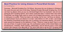 Hey Scripting Guy blog post in Google Reader.
