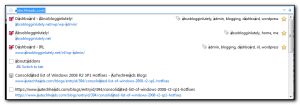 All Autocomplete details shown with Delicious addon disabled