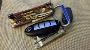 Keys and loyalty cards in the Keysmart