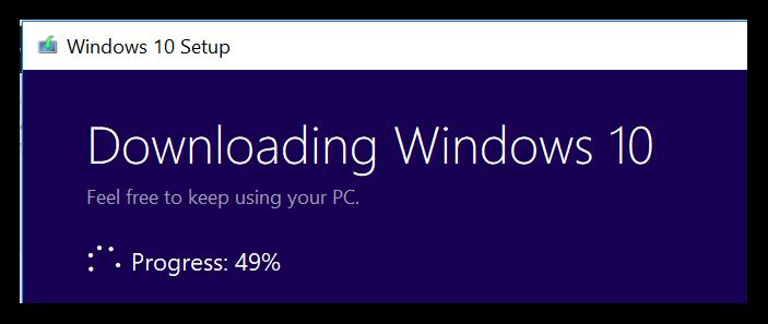Installing Windows 10 Fall Creators Update